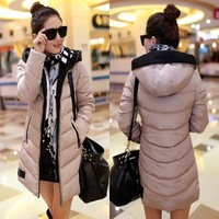 Autumn and winter slim medium-long down cotton-padded jacket women's cotton-padded jacket outerwear wadded jacket