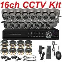Free shipping whole sale dropship 16ch channel cctv kit whole cctv system security surveillance camera sony 700TVL 16ch HD DVR