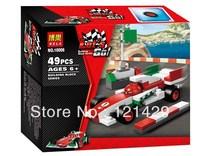 Cartoon Cars Bela 10006 52pcs building blocks 3D DIY assembling educational toys;Compatible with LEGO; FREE SHIPPING