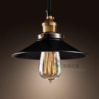 Loft vintage pure copper lamp base study light horn pendant light