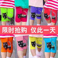 2013 summer cat girls clothing baby child 5 capris pants legging kz-1978