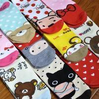 Free shipping! 12pairs/lot girl socks polyester cotton cartoon women socks
