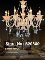 Free shipping E14*8 champagne color contemporary chandeliers pendants Chandelier crystal D750*H1200mm