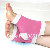 100 pairs/lot Geel Heel Socks Moisturing Spa Gel Socks feet care product  for cracked heels