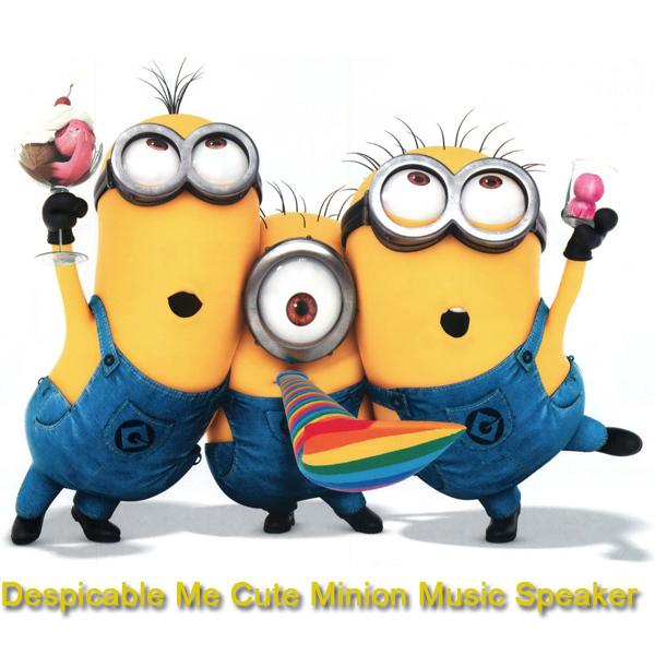Mini Cute Minion Cartoon Doll Audio Music Audio Player Speaker(China (Mainland))