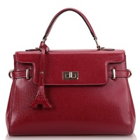 HOT LADIES EUROPEAN AND AMERICAN Eiffel Tower LEATHER SATCHEL