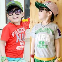 2013 summer letter boys clothing girls clothing baby child short-sleeve T-shirt tx-1103