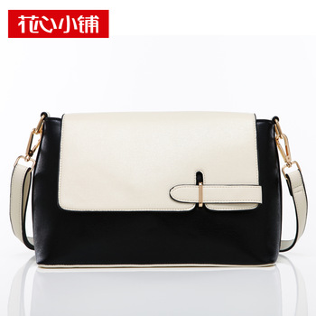 - 2013 autumn vintage buckle color block one shoulder cross-body bags female - 10680