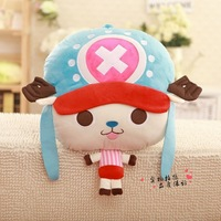 cute anime figures One piece Tony Tony chopper plush toy dolls warm hands cushions stuffed animal pillows,winter gifts,1pcs