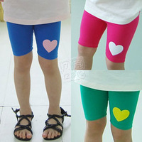 2013 summer love girls clothing baby child 5 pants capris legging kz-1685