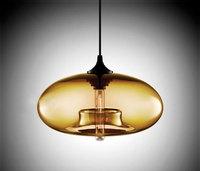 "Contemporary Aurora Pendant Lamp in Smoke designer Jeremy Pyles(11""dia x 4.75""H"")"