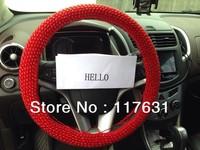 Korea Premium manual Steering Wheels Handle Anti-slip Cover Horns Protective Casing Sleeve Car