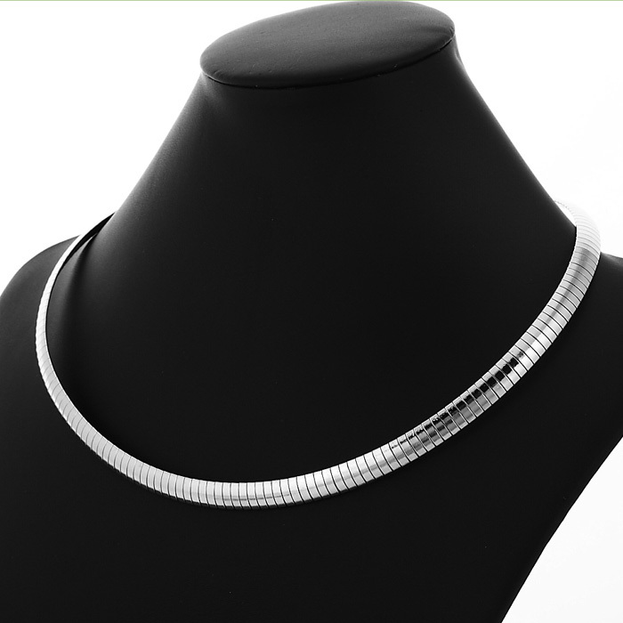 New 316L Stainless Steel Chains Snake Choker Necklace For Women \ Men High Quality Jewelry NEVER FADE 8MM 48CM 19inches YN212(China (Mainland))