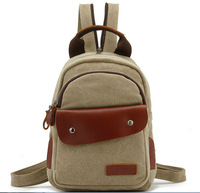 New student backpack exempt postage, canvas satchel leather leather multi-purpose bag