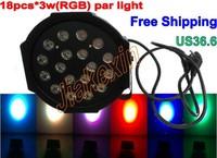 2013 Hot Sell 18*3W High Power RGB LED Par Light With DMX512 Master-Slave Stand,Megar Par Profile,Stage Light,DJ Equipments