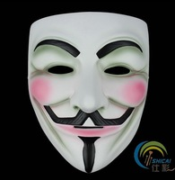 Fashion Full Face V for Vendetta Carnival Mask High Quality Halloween Masquerade Masks Free Shipping PVC Party Crafts