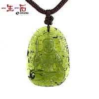 Crystal big animal buddha glass 3a natural moldavite pendant certificate
