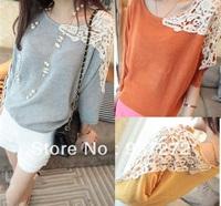 2013 autumn women's long-sleeve T-shirt preppy style basic shirt honey sisters equipment free shipping