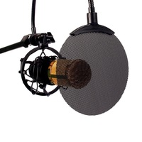Black Flexible Studio Microphone Mic Metal Screen Pop Filter Shield Bracket