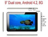 "9"" Dual Core CPU Allwinner A20 Android 4.2  8GB NAND Flash WIFI Dual Cameras HDMI 9 inch tablet pc"