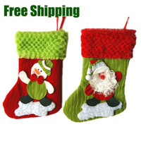 Free shipping Christmas socks Christmas ornament Snowman Santa Claus Christmas pendant ~Factory Cheap Wholesale~
