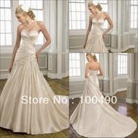 Alibaba Suzhou crystal Elegant satin appliques wedding gowns TT006