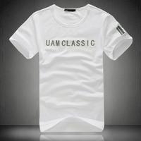 Uam summer modal cotton t-shirt fashion plus size male short-sleeve T-shirt slim male short-sleeve medium-large