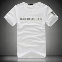 Uam summer modal cotton t-shirt fashion plus size male short-sleeve T-shirt slim male short-sleeve medium-large