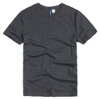 Classic fashion brief solid color o-neck short-sleeve T-shirt male basic shirt