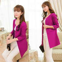 Trench female 2013 spring and autumn women's o-neck suit plus size trench long-sleeve slim thin outerwear