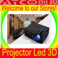 "Best ATCO Full HD DLP Led 3D Projector 5200 Lumens Video Digital Beamer Projektor Proyector High Brightness Project 300"" screen"