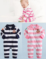 Children's clothing  child PL stripe long-sleeve romper bodysuit PL romper free shipping