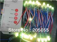 100pcs LPD6803 IC RGB led pixel module waterproof Diffused Digital 12mm string punctiform lamp 2 x 50nodes 5V+SD card controller