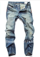 Men's Jeans 2013 retail (1piece) fashion high quality Nostalgic retro beggar hole cotton DI brand men's jeans