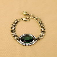 (Min order is $10) Fashion fashion accessories emerald vintage bracelet brief