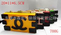 2014 HOT licenses Blocks Acrylic  new handbag bag solid color candy color bag clutch bag shoulder bag