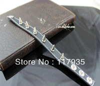 New 2013 hot sale EuropeStyle rasta  punk leather wristband bracelets for men bijouterie rivet Leather bracelet