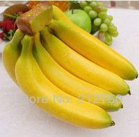 8Pcs/set High artificial banana supermarket shop decoration cabinet crafts fake fruit photograph moulds