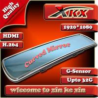 New 4.3Inch Arrival Mirror Full HD1280*720 30FPS 5.0MP COMS sensor Car DVR Night Vision Motion Detection Black BoxFreeShipping