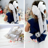 new 2014 Children hair accessories.hair clips baby hair pin girls hair accessory  side-knotted bow clip big clips free shipping