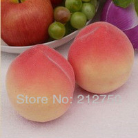Free shipping 10pcs/lot high artificial fruit home cabinet decoration simulation peach teaching mold photograph mould