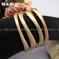 Роскошные преувеличенные multi цепи interwine бусы заявление ожерелье, мода вязать стиль Колье бижутерия для женщин или мужчин, n874