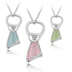 Popular accessories crystal necklace cans full rhinestone pendant b150 fashion accessories