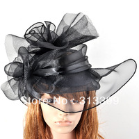 100% handmade lady women large fascinator flower hat hair accessory pillbox hat  party