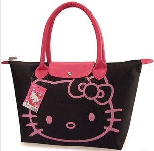 New 2013 Fashion Hello Kitty Cat Tote Bag/Shoulder Bag High Quality Cute Waterproof Shopping Bag Free Shipping