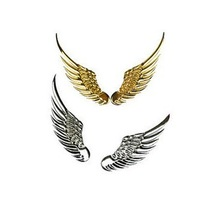2014 new personalized car stickers metal / metal wing car stickers / 3D stereoscopic Angel Wings car styling car stickers
