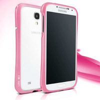 Free Shipping Waistline Frame Aluminium Metal Bumper Case for Samsung GALAXY S4   i9500 i9508, Best quality