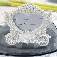 Casamento Frete Grátis favores do casamento Decoração Cinderella Pumpkin Carriage Place Titular, 100pcs/lot(China (Mainland))