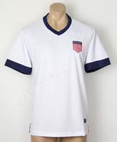 USA centennial jersey 2013 2014 Blank Home Soccer uniforms embroidery Logo