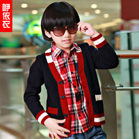 Yyy children's male child clothing 2013 autumn child cardigan male fashion